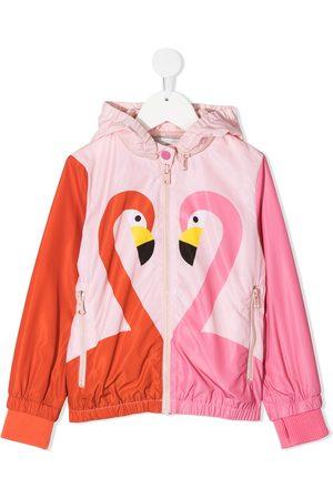 Stella McCartney Girls Rainwear - Flamingo-print jacket