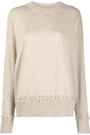 Barrie Women Sweaters - Round neck cashmere jumper - Neutrals