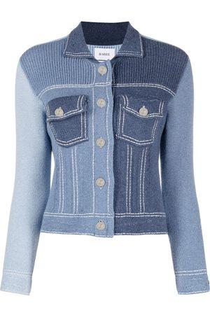 Barrie Patchwork fine-knit jacket