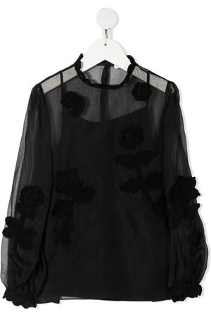 Dolce & Gabbana Girls Blouses - Embroidered sheer blouse