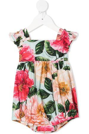 Dolce & Gabbana Baby Printed Dresses - Floral-print cap-sleeve dress