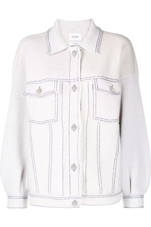Barrie Oversized contrast stitching jacket - Neutrals