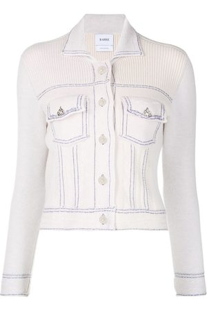 Barrie Contrast stitching fitted jacket - Neutrals