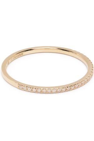 Le Gramme 18kt yellow 1g diamond half pavé ring