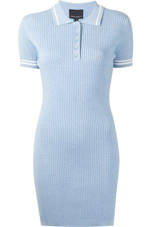 Cynthia Rowley Ribbed polo short-sleeve dress