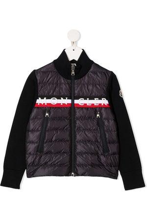 Moncler Logo stripe puffer jacket