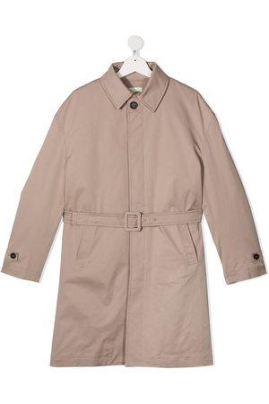 Fendi TEEN belted trench coat - Neutrals