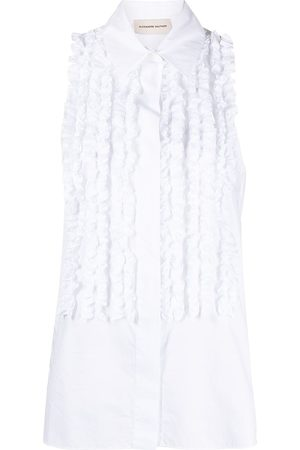 ALEXANDRE VAUTHIER Ruffled sleeveless shirt
