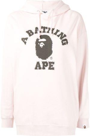 A Bathing Ape Women Hoodies - Logo print hoodie