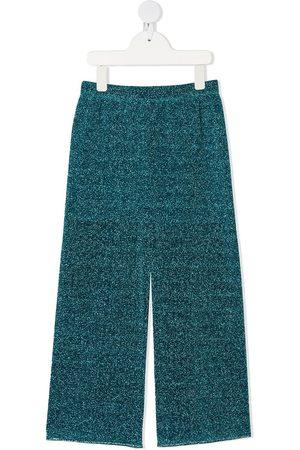 Oseree Glitter straight-leg trousers