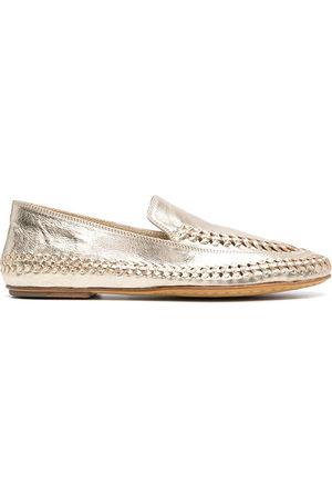 Officine creative Women Loafers - Metallic-effect loafers