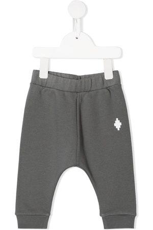 MARCELO BURLON Logo-print track pants - Grey