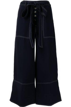 EUDON CHOI High-rise wide-leg cropped trousers