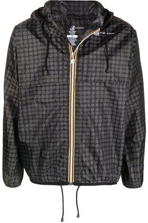 10 CORSO COMO Graphic-print hooded raincoat - Grey