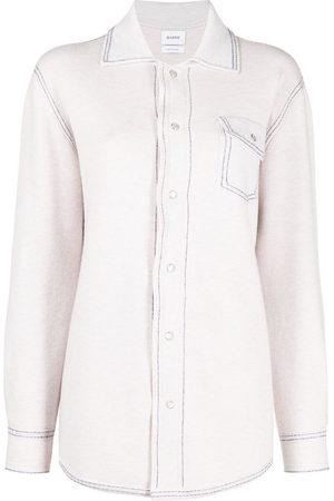 Barrie Cashmere-cotton blend shirt - Neutrals