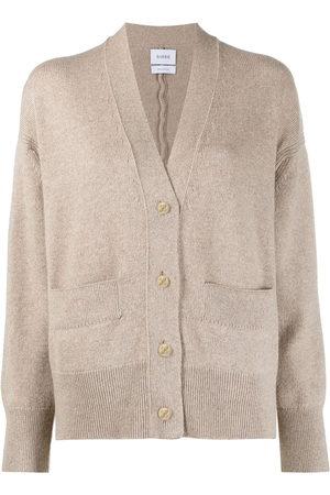 Barrie Rib-detail cashmere cardigan - Neutrals