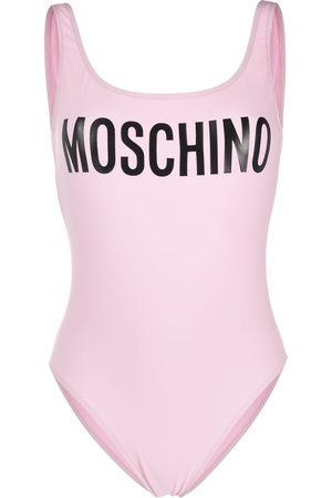 Moschino Logo-print scoop-back swimsuit