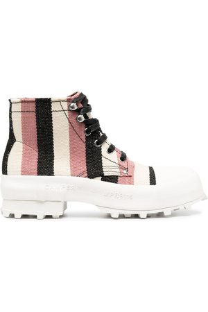 Camper Lab Traktori striped ankle boots - Neutrals