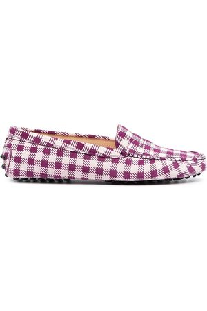Tod's Gingham-print loafers