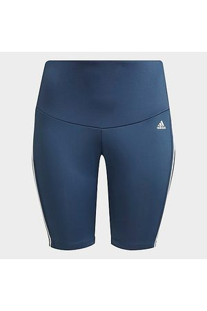 adidas Women Leggings - Women's Designed 2 Move High-Rise Sport Short Training Tights (Plus Size) in /Crew Navy Size Extra Large Polyester
