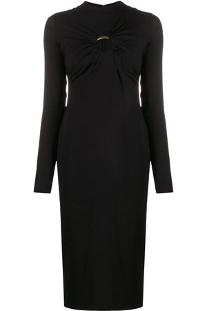 VERSACE Women Party Dresses - Cut-out long-sleeve midi dress