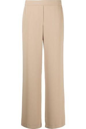 P.a.r.o.s.h. Elasticated-waist straight-leg trousers - Neutrals
