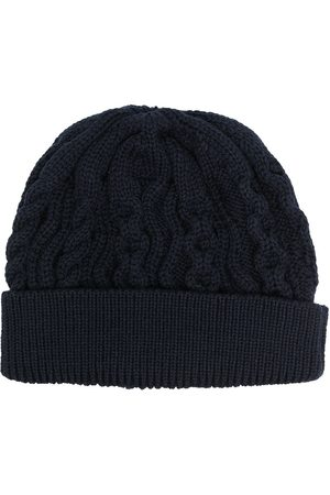 Thom Browne Men Beanies - Aran cable merino wool beanie