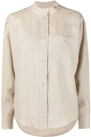 Isabel Marant Nauru chest pocket linen shirt - Neutrals