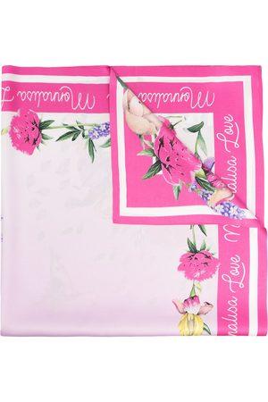 MONNALISA Floral-print satin scarf