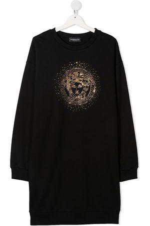 VERSACE Medusa crystal-embellished sweatshirt dress