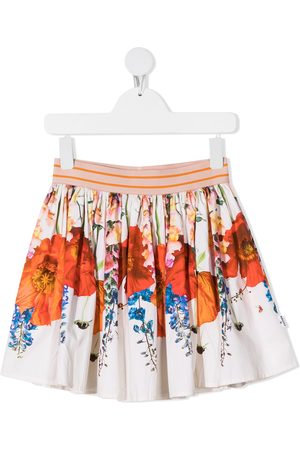Molo Girls Printed Skirts - Brenda floral-print organic cotton skirt
