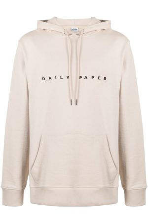 Daily paper Hoodies - Alias logo-embroidered hoodie - Neutrals