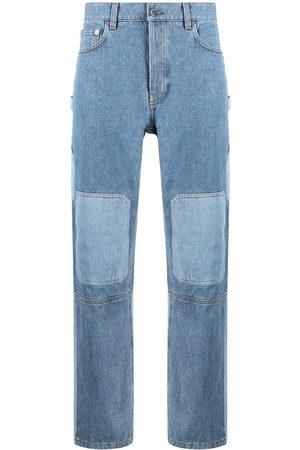 J.W.Anderson Patchwork-effect jeans - DENIM