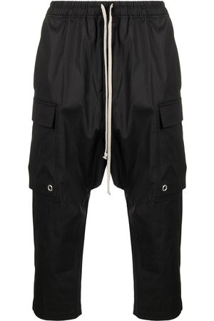 RICK OWENS Drawstring cargo cropped trousers