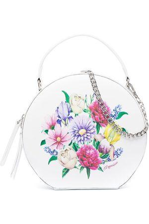 MONNALISA Floral print leather shoulder bag