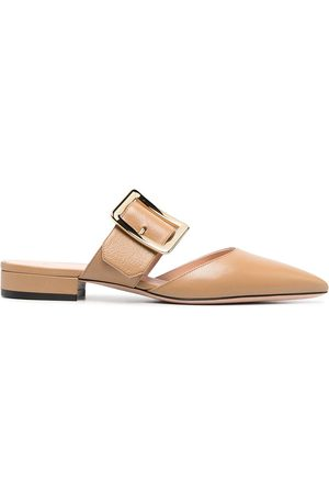 Bally Crossover-strap mules - Neutrals