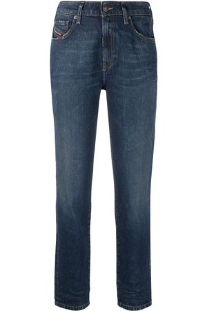 Diesel D- Joy mid-rise straight-leg jeans