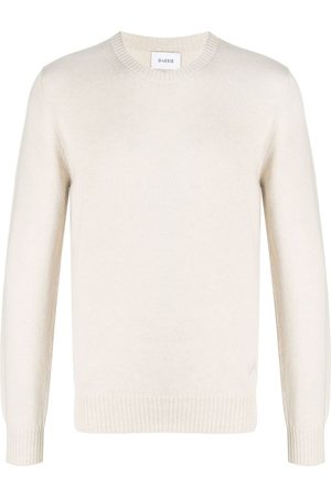 Barrie Embroidered logo knit jumper - Neutrals