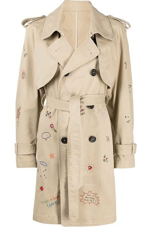 Dsquared2 Logo-embroidered trench coat - Neutrals