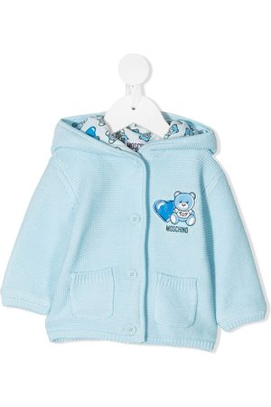 Moschino Knitted Teddy cotton cardigan