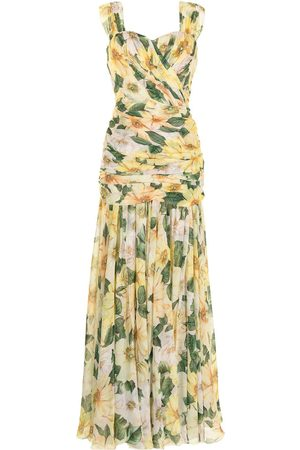 Dolce & Gabbana Floral-print evening dress
