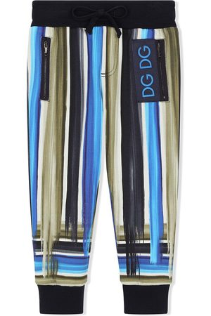 Dolce & Gabbana Painted stripe track pants