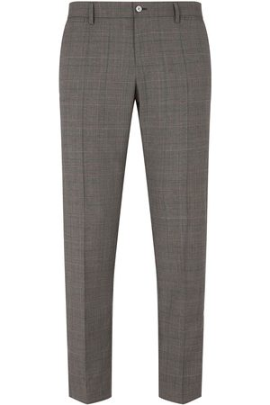 Dolce & Gabbana Prince of Wales checked trousers - Grey