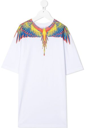 MARCELO BURLON Wings-print cotton T-shirt dress