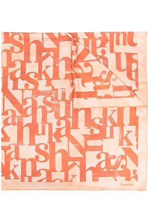 Nanushka Monogram pattern scarf - Neutrals