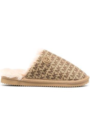 Michael Kors Janis logo jacquard slippers - Neutrals
