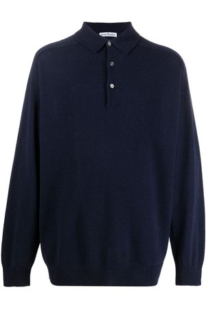 Acne Studios Men Sweatshirts - Polo knitted jumper