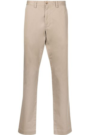 Polo Ralph Lauren Logo-patch straight-leg trousers - Neutrals