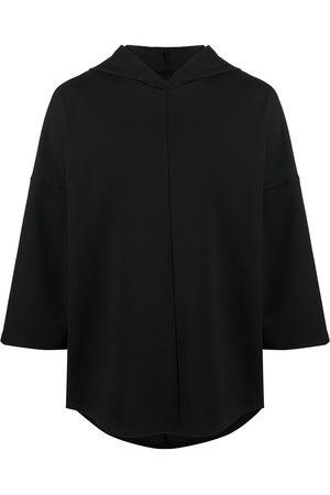 Alchemy Three-quarter sleeve oversized hoodie