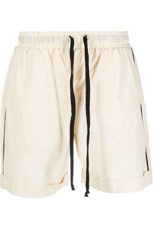 Alchemy Contrast-trim cotton shorts - Neutrals